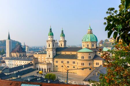 Beautiful view of historic city center on a sunny day. SALZBURG, AUSTRIA