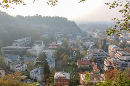 A view along of the city of SALZBURG, AUSTRIA