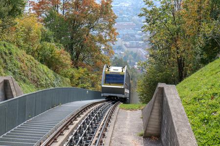 Innsbruck, Austria - oct 18, 2018. Hungerburgbahn with wagon funicular in Innsbruck, Austria Redakční