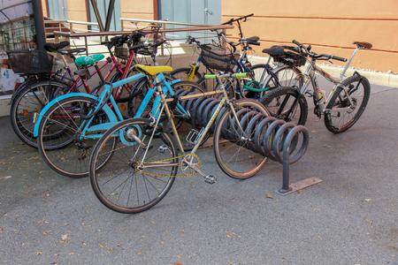 Multi level bicycle storage system in Innsbruck, Austria Redakční