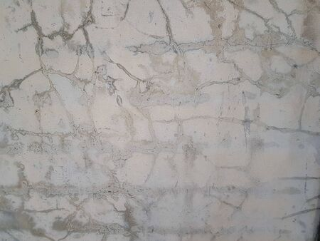 White pastel rough crack cement texture background  stone concrete,rock plastered stucco wall