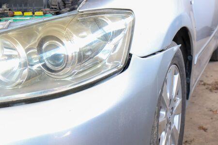 Front bumper Car crash damage fall Фото со стока