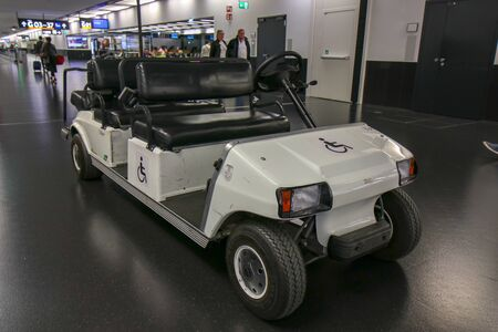 Suvarnabhumi Airport, Thailand, Oct-23-2016: cars for disabled passengers in the International, Thailand