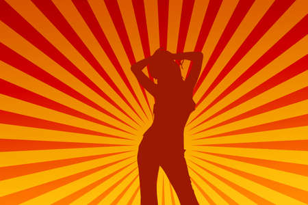 silhouette of a dancing girl photo