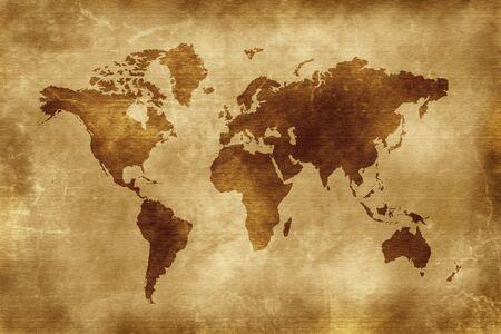 Map of the world - world illustration