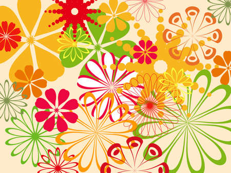 colorful abstract flower pattern  photo