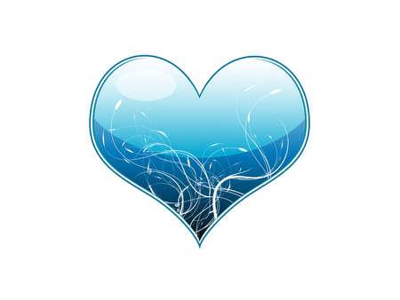illustration of a blue heart illustration