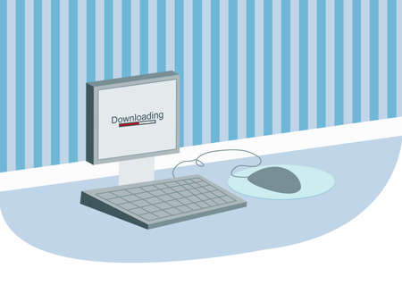 illustration of a computer illustration
