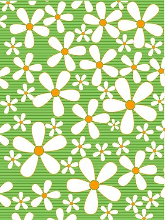 colorful retro floral background Stock Photo - 2192136