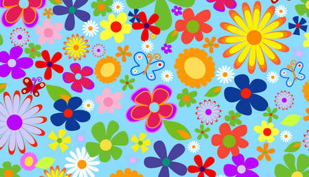 Spring flowers background Stock Photo - 2192118