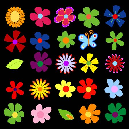 colorful spring flowers Stock Photo - 2192116