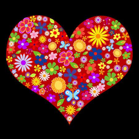 spring flower valentine illustration Stock Illustration - 2192137