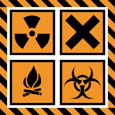 signos de precaucion: Ilustraci�n vectorial de se�ales de advertencia