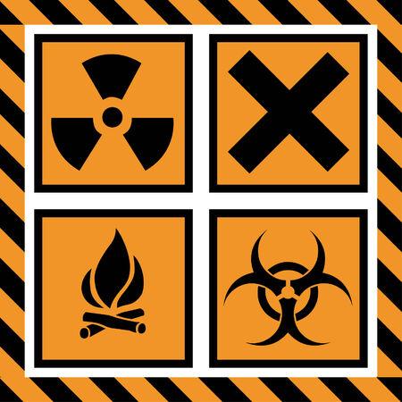 warning signs: Vector Illustration of Warning Signs Illustration