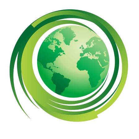 symbolize: Environmental concept image...green world