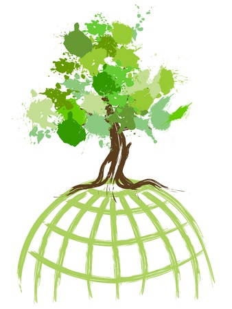 life metaphor: Environmental concept image...green world