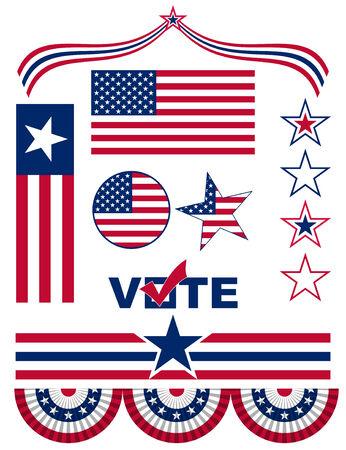愛国心: 要素およびアメリカの愛国心のアイコン