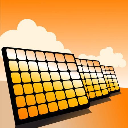 Solar panel, alternative energy concept, vector illustration Illustration