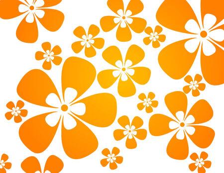 colores calidos: fondo, con flores en colores c�lidos  Vectores