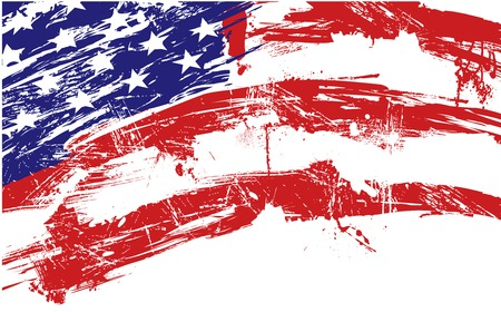 american flag background: American flag background fully editable vector illustration
