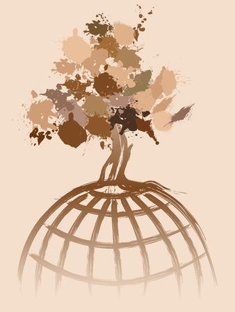 Environmental concept image fully editable vector illustration Vector