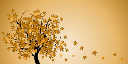 Abstract tree with autumn leaves vector illustration Stock Illustration - 3524086