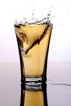 soft drink with a splash photo