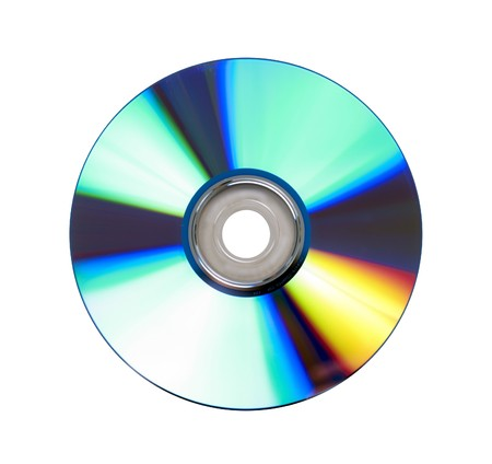 recordable: Recordable DVD disc on white background