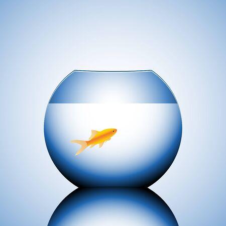 goldfish in a bowl vector illustration Stock Illustration - 4392794