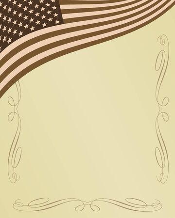American patriotic background fully editable vector illustration illustration