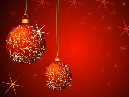 Christmas Background fully editable vector illustration Stock Illustration - 4394544