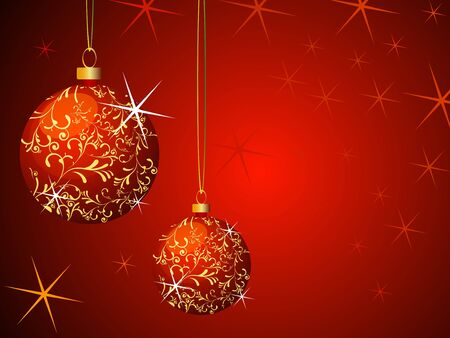 Christmas Background fully editable vector illustration Stock Illustration - 4394544