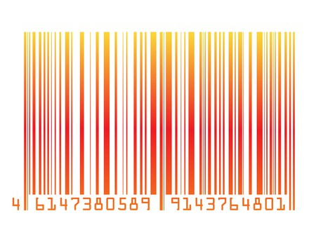colorful barcode fully editable vector illustration illustration