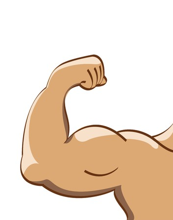 triceps: vector illustration of muscle man Stock Photo