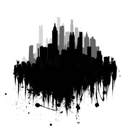 Vector illustration of urban skylines Stock Illustration - 4394594