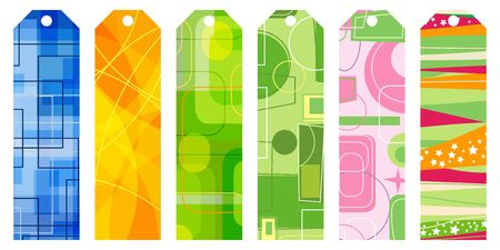 copy paste: abstract retro bookmark set vector illustration