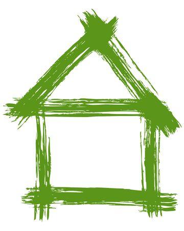 Vector illustration of a green house illustration