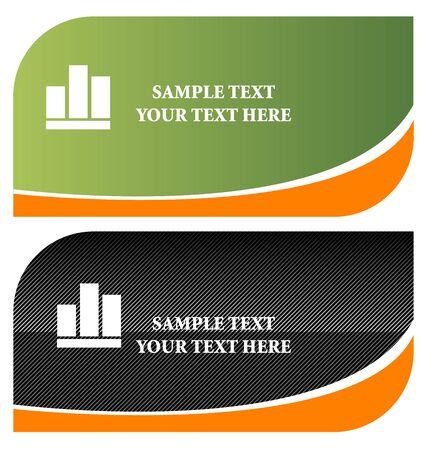 stylish business cards vector illustration illustration