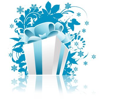 Christmas present box with reflection fully editable vector illustration illustration