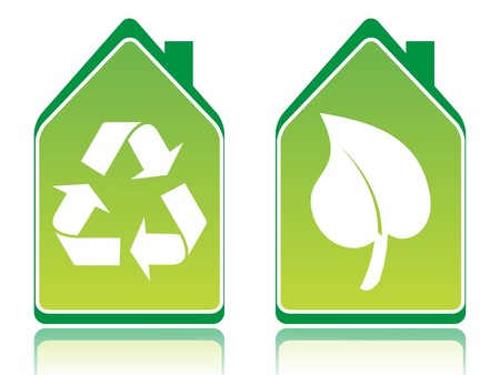 Green ecology houses vector illustration Stock Illustration - 4394449