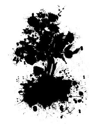 thrive: Abstract tree silhouette vector illustration Stock Photo