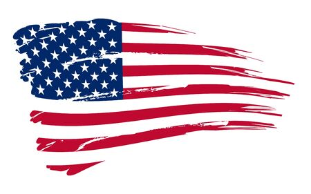 American flag background fully editable vector illustration illustration