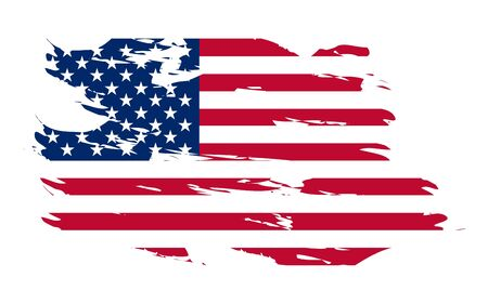 aging american: American flag background fully editable vector illustration