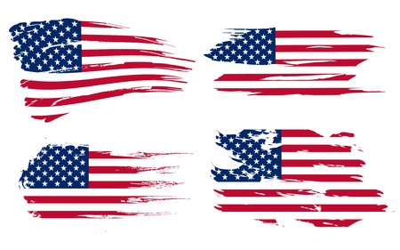 aging american: American flag background fully editable vector illustration, can be scaled to any size without quality loss