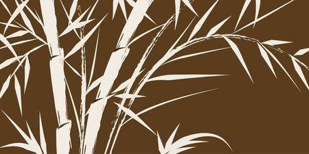 design of chinese bamboo trees, vector illustration  illustration