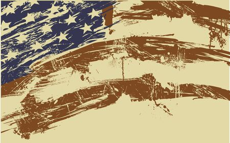 American flag background fully editable vector illustration, can be scaled to any size without quality loss illustration