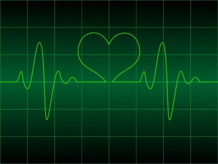 Heart cardiogram with heart on it vector illustration illustration