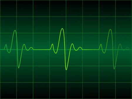 cardioid: Coraz�n cardiograma ilustraci�n vectorial
