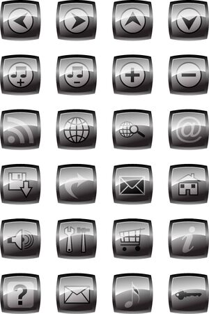 Vector illustration of glossy multimedia icon set Stock Illustration - 4394519