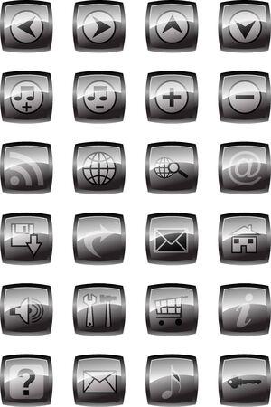 Vector illustration of glossy multimedia icon set Stock Illustration - 4394519